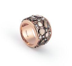 Al Coro ring # Candy Collection # 18ct rosegold # Smoky quartz