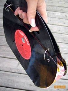 Vinyl Record Purse #WackyWednesday