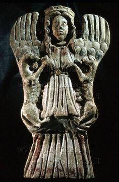 Potnia Theron (Mistress of Animals)  Minoan goddess.