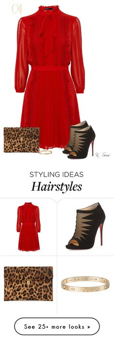 """""""Vintage meets modern"""" by ksims-1 on Polyvore featuring Christian Louboutin, Alexander McQueen, Cartier, Bling Jewelry, modern and vintage"""
