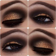 So pretty...Make Glitter Your New Smokey Eye.