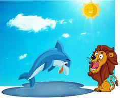 Fábulas infantiles: El León y el Delfín