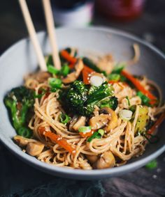 I just LOVE these Asian noodles with vegetables. You can also do a another version by adding Steam Recipes, Jean Philippe, Asian Noodles, Grace, My Best Recipe, Chinese Food, Vegetable Recipes, Clean Eating, Good Food