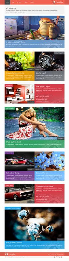 Portfolios, WordPress Responsive Creative Theme
