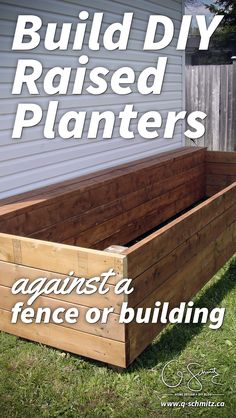 garden boxes Looking for a DIY build project to kick-start your summer gardening Here are some easy to instructions for building a raised garden bed along a shed (or fence, or whatever!) that you can easily adapt to your space. Building A Raised Garden, Building A Shed, Raised Garden Beds, Raised Beds, Raised Planter Beds, Building Ideas, Building Plans, Home Design Diy, Design Ideas