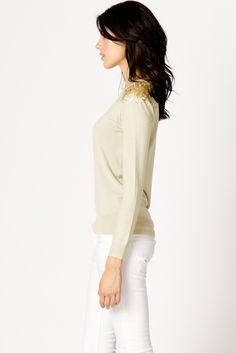 A Little Sparkle Sweater in Cream | a-thread