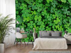 Fototapeta flizelinowa idealna na Dzień św. Patryka :) Zielona koniczynka przyniesie szczęście Twojemu mieszkaniu!