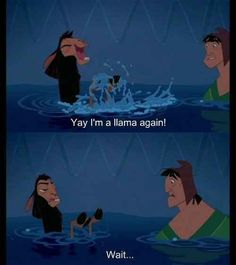 Funny disney humor emperors new groove Ideas Walt Disney, Disney Love, Disney Magic, Disney Stuff, Frases Disney, Disney Quotes, Film D'animation, Film Serie, Best Disney Movies