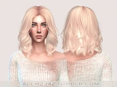 Anto Hair Mollie Retexture at Salem2342 via Sims 4 Updates Check more at http://sims4updates.net/hairstyles/anto-hair-mollie-retexture-at-salem2342/