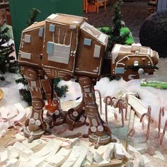 AT-AT gingerbread cookie