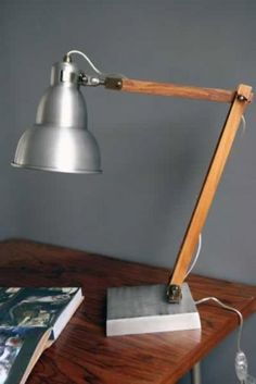 Retro Metal Desk Lamp These perfect retro metal and wood desk lamps are suitable for everyone! There is no better way to brighten up your workspace, bedside, coffee table, need I go on? The desk lights are made in metal and wood. The Retro Metal desk Wood Desk Lamp, Best Desk Lamp, Wooden Lamp, Table Lamp, Retro Lamp, Retro Desk, Suspension Vintage, Black Lamps, White Lamps