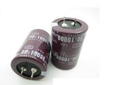 Free shipping 80V 10000uf Electrolytic Capacitor Radial 35x50mm (2pcs)