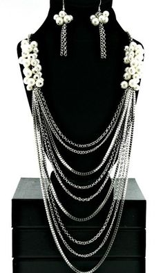 """Khloe"" Long Multi Layered Pearl Necklace - So Sexy Fashion"