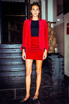 If anyone can make red velvet work in summer, it's Alexa Chung http://uk.bazaar.com/1q6EyrC