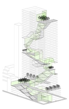 Rafi segal, new housing prototypes, vertical landscaping architecture concept diagram, revit architecture, A As Architecture, Architecture Concept Diagram, Architecture Graphics, Architecture Drawings, Architecture Portfolio, Architecture Diagrams, Futuristic Architecture, Autocad, Vertical City