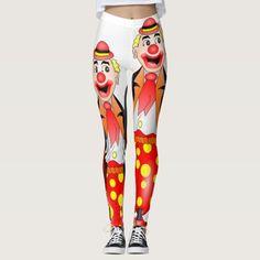 red clown white leggings long teenager
