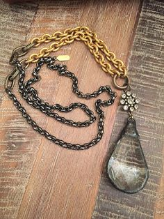 Hey, I found this really awesome Etsy listing at https://www.etsy.com/listing/213034003/mixed-metal-vintage-crystal-necklace