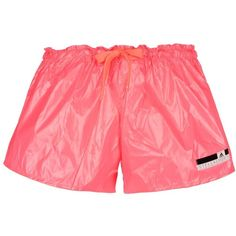 Adidas Stella Sport Shorts ($31) ❤ liked on Polyvore featuring activewear, activewear shorts, coral and logo sportswear