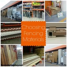 Choosing The Best Fencing Material...great information!