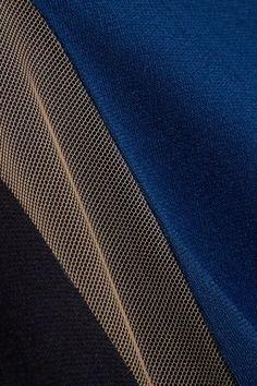 Stella McCartney - Eliana Tulle-paneled Stretch-cady Dress - Petrol - IT46