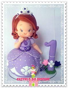 Princesa Topo de bolo com vela http://www.elo7.com.br/princesa-com-vela/dp/507DD9                                                                                                                                                      Mais                                                                                                                                                     Mais