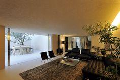 中庭のある家|オリーブ|薪ストーブ|モダン住宅・高級住宅・注文住宅・自由設計・建築家|アーキッシュギャラリー(東京・名古屋・大阪)Archish Gallery
