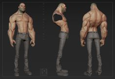 Thinking of starting a new character. Zbrush Character, 3d Model Character, Character Modeling, Game Character, Character Concept, Concept Art, Man Anatomy, Muscle Anatomy, Expression Face