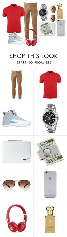 """""""Schooloutfit@"""" by thaboss-123 ❤ liked on Polyvore featuring Dockers, Polo Ralph Lauren, NIKE, Gucci, American Coin Treasures, Ray-Ban, Native Union, Beats by Dr. Dre, Clive Christian and men's fashion"""