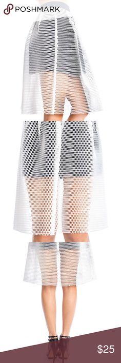 Mesh Skater Skirt Mesh Skater Skirt (White) Umgee Skirts Circle & Skater