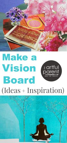 Ideas and inspiration to make a vision board using collaged magazine pictures, photos, words that resonate, and goals. I make a vision board every year!