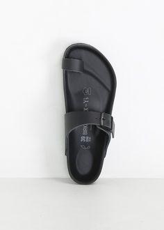 Y's by Yohji Yamamoto Toe Strap Birkenstock Sandal (Black)