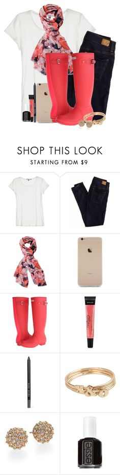 """outfit #79."" by madisons-outfits ❤ liked on Polyvore featuring Calypso St. Barth, American Eagle Outfitters, Chesca, Hunter, philosophy, Bobbi Brown Cosmetics, Kate Spade, Essie, falloutboy and madisonsoutfits"