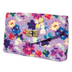 "Aldo ""nature print"" clutch- love the colors and pattern!"