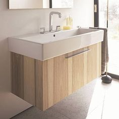 Duravit Fogo Wall Mount Bathroom Vanity Features 1 pull-out compartment Note: Some fixtures are shipped from Germany and will require a longer lead-time of 8-10 weeks.