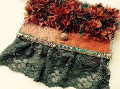 Sac à main pochette dentelle pour femme, style Froufrou : Sacs à main par les-damotes