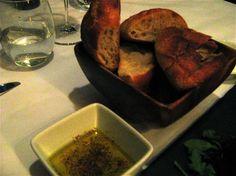 su bread and olive oil with za'atar