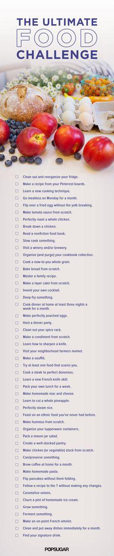 51 Foodie New Year's Resolutions to Accomplish in 2015 #SkinnyFoxDetox [ SkinnyFoxDetox.com ]