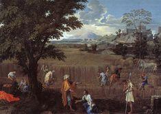 El verano (Rut y Boaz), 1660-1664 - Nicolas Poussin. Titulo original: L'été (Ruth et Boaz)
