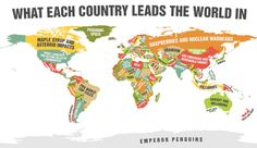 They omitted the South Australian serial killers, Queensland red-necks, Victorian killer police, and Sydney violence...  Cricket, melanoma, and deadly shark attacks. That's what we Australians excel at, according to this very amusing (and rather random) map.