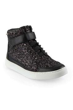 de24fd6a7cdd Black Glitter High Top Sneakers Mens Designer Shoes, Mens Fashion Shoes,  Black Glitter,