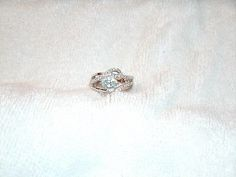 Natural Blue Topaz Sterling 925 Silver Ring Size 7.25 Handmade