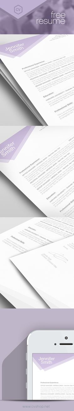 14 best FREE Resume Templates images on Pinterest   Resume cover     Free Resume Template 100030
