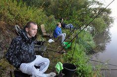 #Wędkarstwo nad #rzeka #Wisłok w #Rzeszów #Polska. #Fishing in #Poland #Wislok #river. #Feeder #rods and #angler