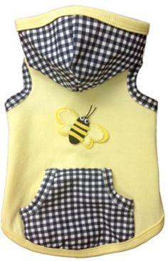 Baby Bumble Bee Dog Hoodie