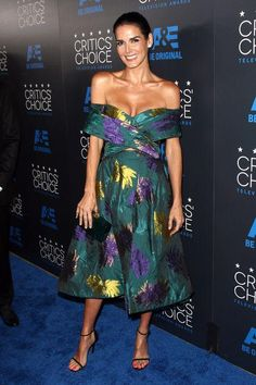 Angie Harmon in Christian Siriano at the Critics' Choice TV Awards