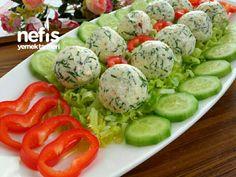 Kahvaltılık Peynir Topları Caprese Salad, Omlet, Food, Essen, Meals, Yemek, Insalata Caprese, Eten