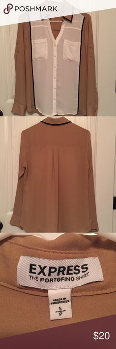 Express portofino button down top Express button down top worn once. Great for business or casual wear Express Tops Button Down Shirts