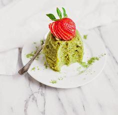Matcha Mug Cake (Paleo, Gluten-free)   acalculatedwhisk.com