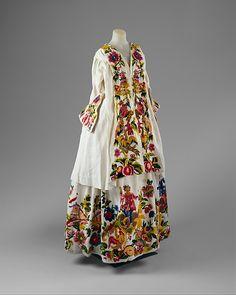 Jacket (Casaquin) and Petticoat. 1725–40. Italian, linen. The Metropolitan Museum of Art of New York.