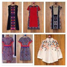 various model of batik dress